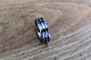 Faceted Tungsten - double channel 8mm