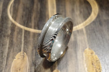 Load image into Gallery viewer, Damascus Steel Custom Ring Design 8mm