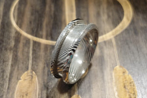 Damascus Steel Custom Ring Design 8mm
