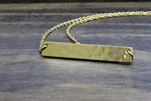 Load image into Gallery viewer, Hammered Bar Necklace