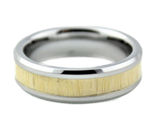 Tungsten with Bamboo Inlay