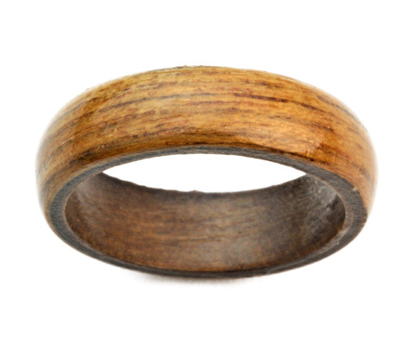 Teak Wood Bentwood Ring Solid