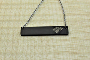 Black Bar Necklace