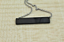 Load image into Gallery viewer, Black Bar Necklace