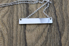 Load image into Gallery viewer, Silver bar necklace