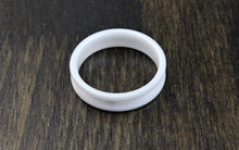 Load image into Gallery viewer, White Ceramic Ring Blank 6mm - 8mm