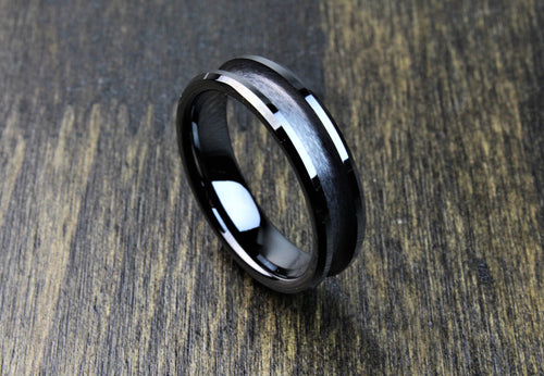 Black Ceramic Ring Blank 6mm - 8mm