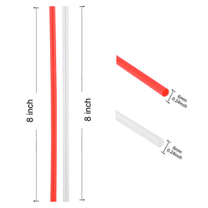 "TISRO 100% Biodegradable & Compostable 8"" PLA Wrapped Straw (Package of 200, Red)"