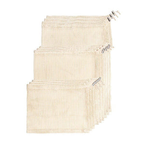 TISRO Biodegradable Natural Cotton Reusable Produce Bags