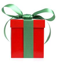 online backup in a gift box