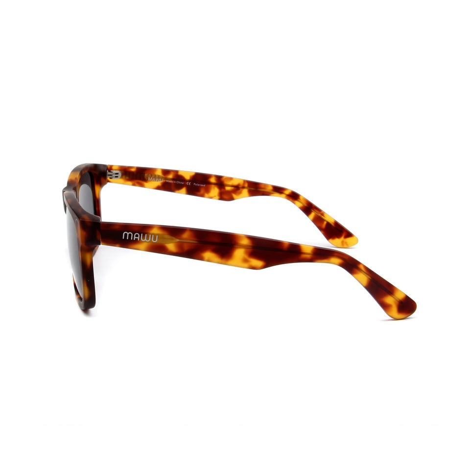Corsica Tortoise - Side View - Grey lens - Mawu Sunglasses