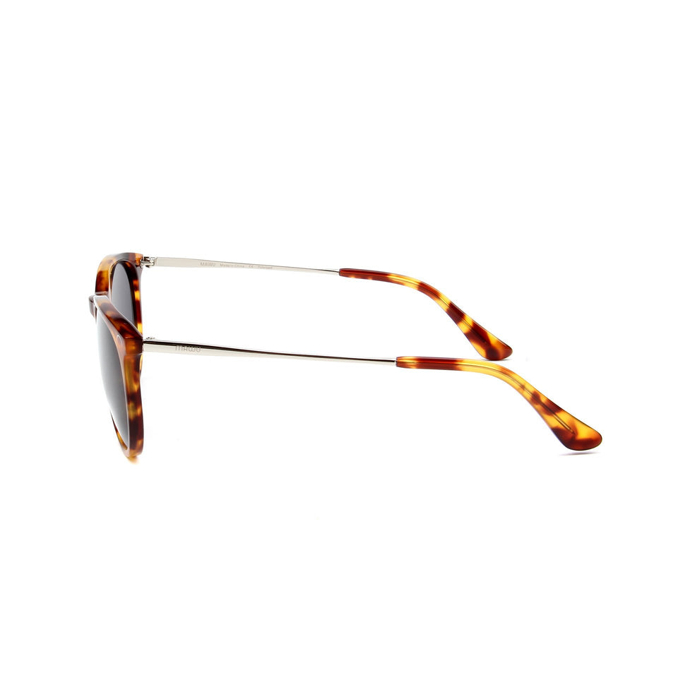 Ovea Tortoise - Side View - Dark Grey lens - Mawu sunglasses