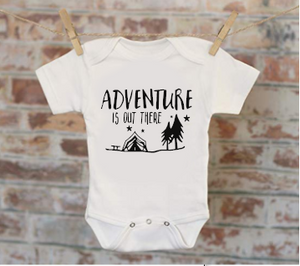 Adventure Is Out There Camping Onesie