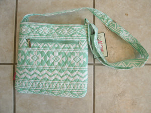 Mint Aztec Crossbody With Bow