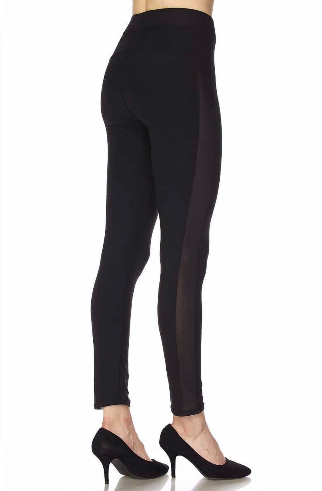 Soft Mesh Side Yoga Leggings