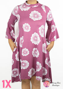1X Floral  Paisley Raye Lotus Dress
