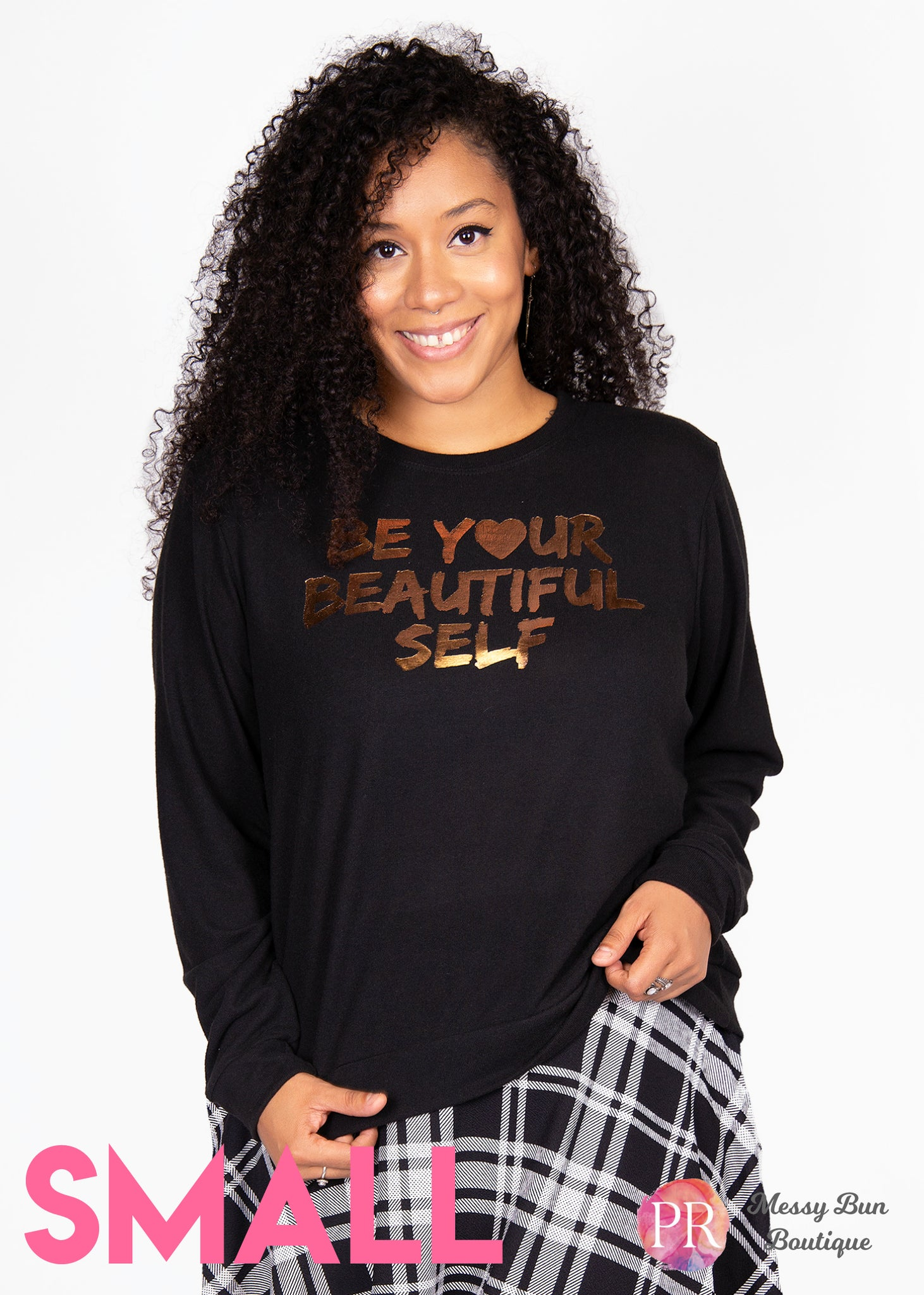 Small Black Paisley Raye Graphic Sweatshirt