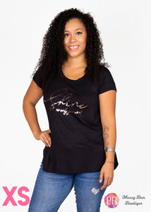 XS Black Paisley Raye Graphic Tee