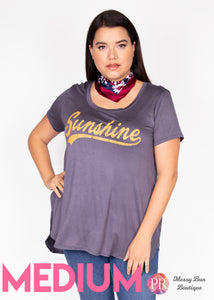 "Medium ""Sunshine"" Paisley Raye Graphic Tee"