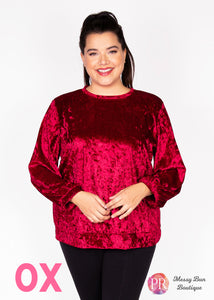 0X Red Paisley Raye Holly Sweatshirt