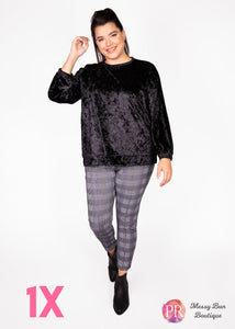 1X Black Paisley Raye Holly Sweatshirt