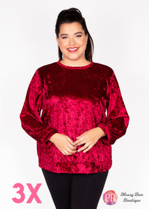 3X Red Paisley Raye Holly Sweatshirt