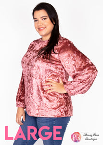 Large Pink Paisley Raye Holly Sweatshirt