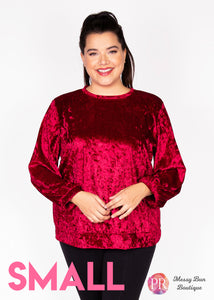 Small Red Paisley Raye Holly Sweatshirt