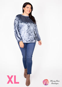 XL Blue Paisley Raye Holly Sweatshirt