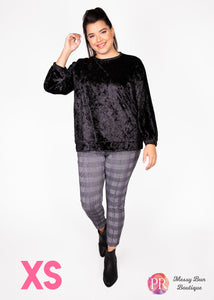 XS Black Paisley Raye Holly Sweatshirt