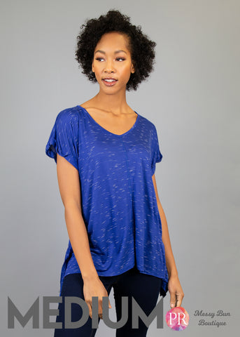 Medium Blue Paisley Raye Tulip Tee