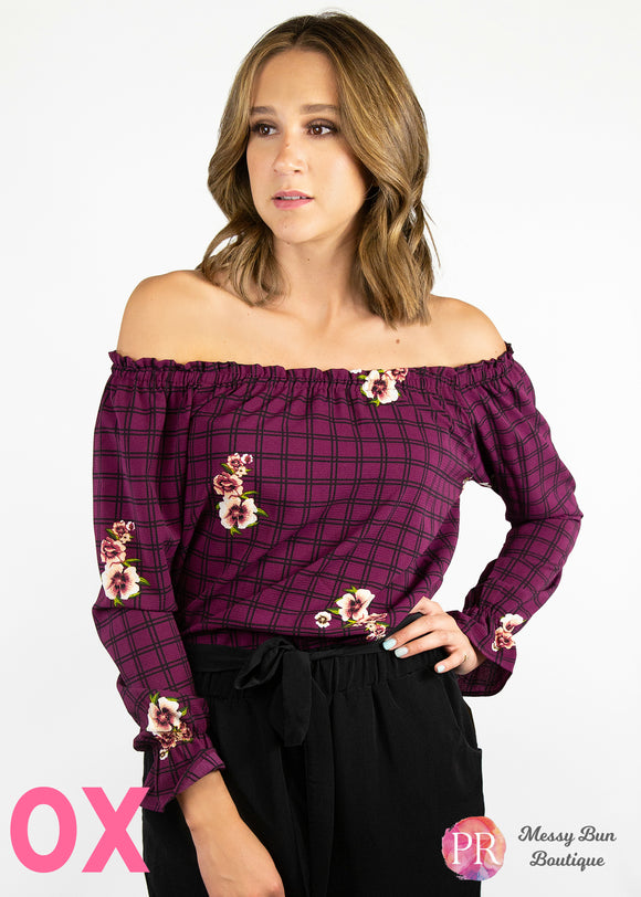 0X Purple Paisley Raye Willow Top