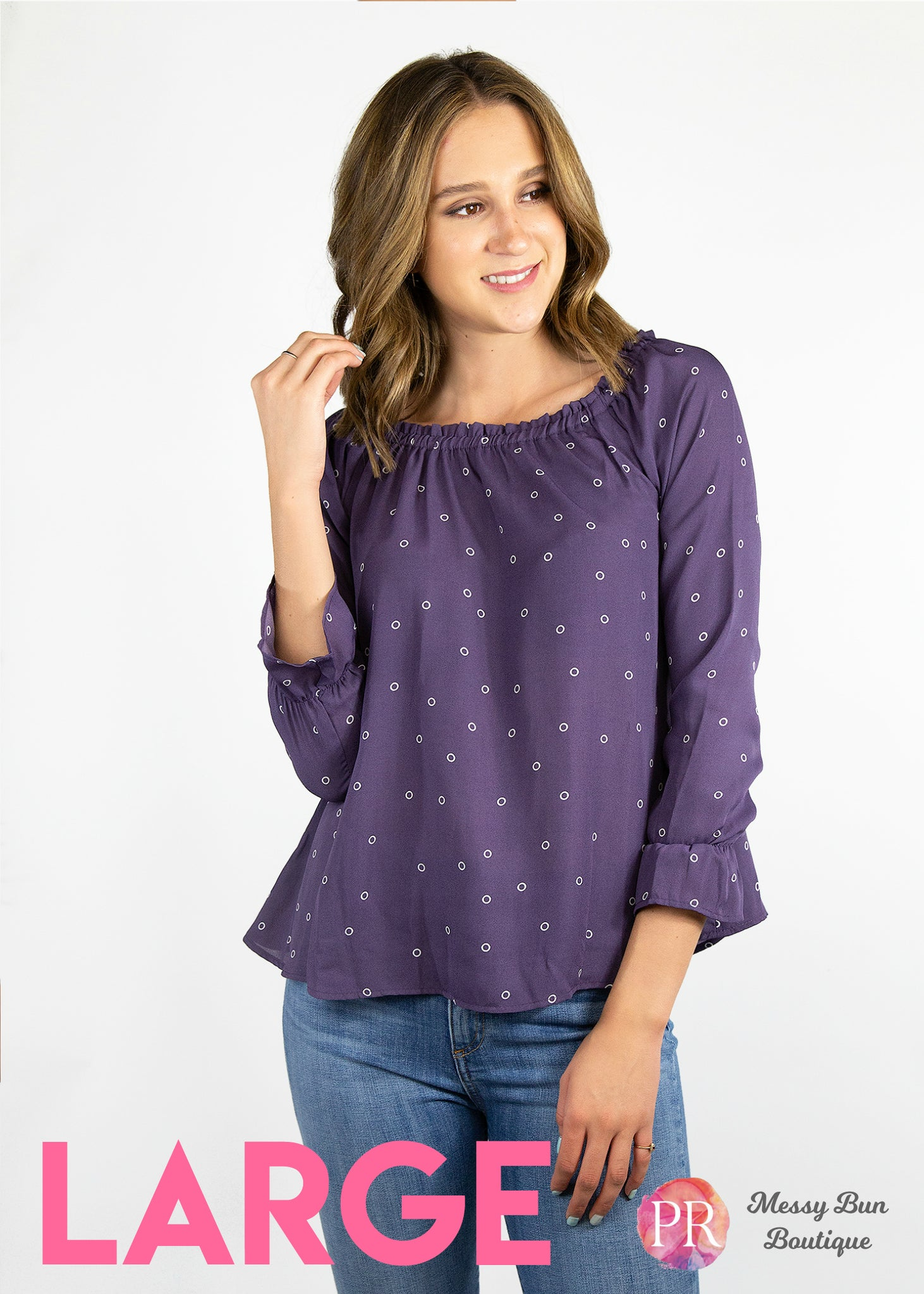 Large Purple Paisley Raye Willow Top