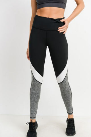 Highwaist Arrowhead Colorblock Leggings