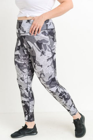 Camo Print Full Leggings