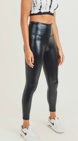 Black Glossy Liquid Highwaist Leggings