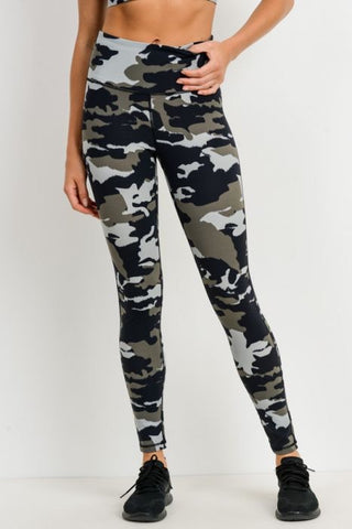 Camo Print Highwaist Leggings