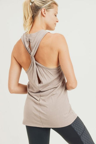 Twist Back Racerback Tank Top
