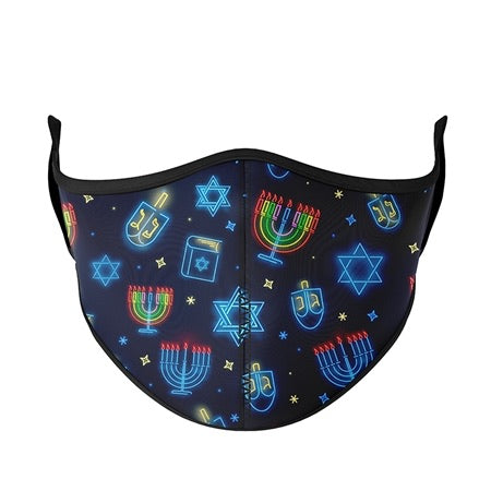 One Size Fits Most Hanukkah Face Covers