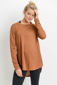 Long Sleeve Flow Top in Coco