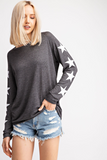 Charcoal Gray Star Top