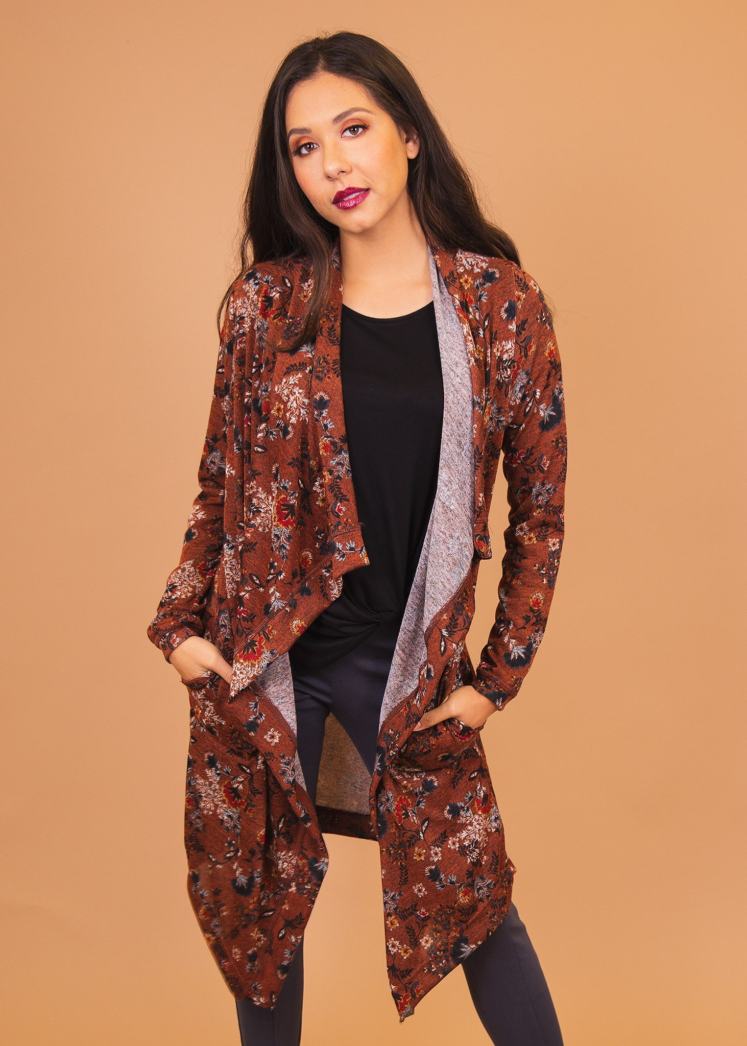 XS Brown Patterned Paisley Raye Dusty Miller