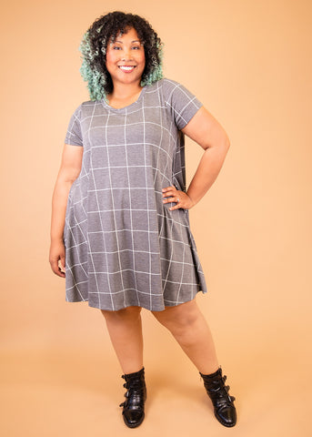 0X Gray Print Paisley Raye Iris Dress