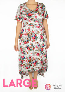 Large White Floral Paisley Raye Primrose Dress