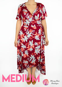 Medium Rust Floral Paisley Raye Primrose Dress