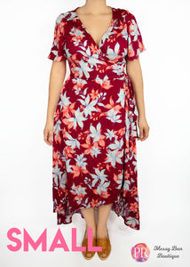Small Rust Floral Paisley Raye Primrose Dress