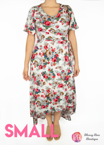 Small White Floral Paisley Raye Primrose Dress