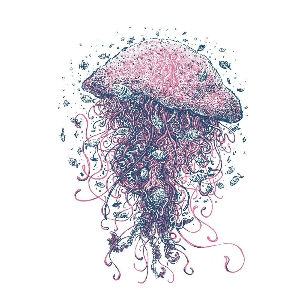 Jellyfish - Unisex Tri-Blend-Apparel- Quarrelsome Yeti