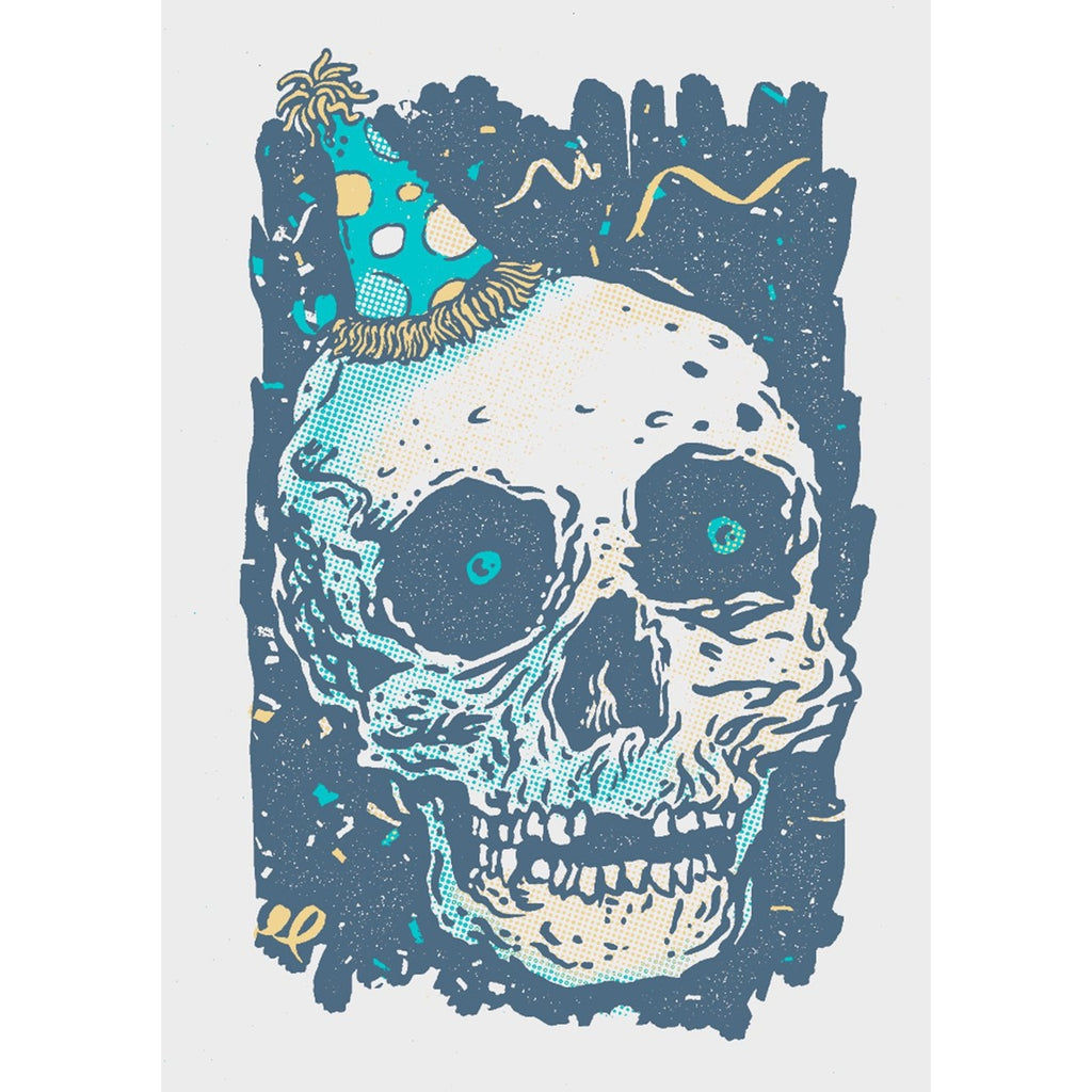 Party Skull - Screenprinted  Card