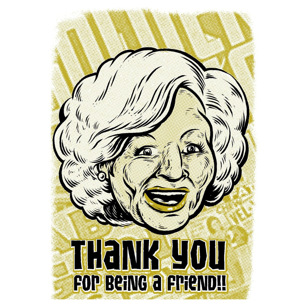 Thank You for being a friend -  Golden Girls Thank You Cards - Rose